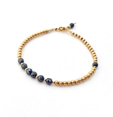 Gold Hematite Friendship Bracelet
