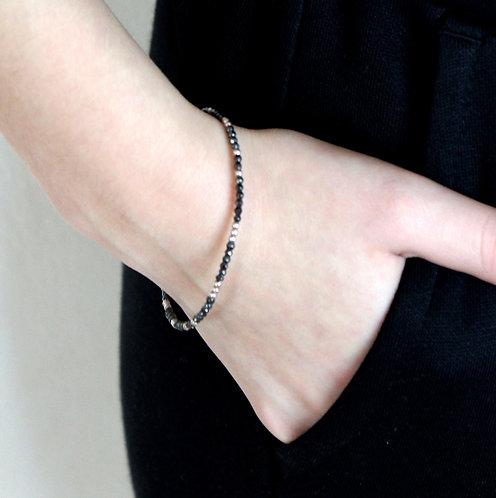 Skinny Hematite Friendship Bracelet
