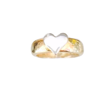 Heart Gold Chunky Stacking Ring