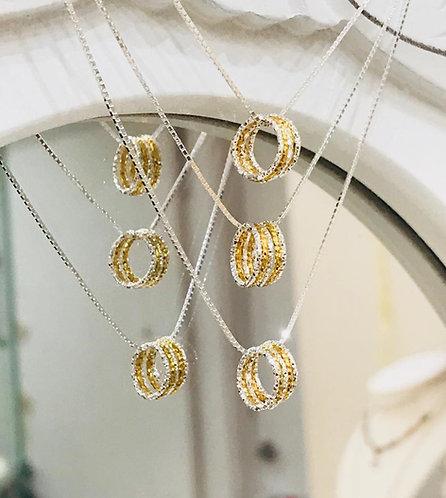 Eternity Silver & Gold Sparkle Necklace