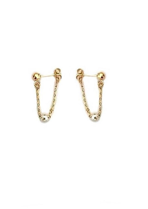 Solid Gold Earrings Set