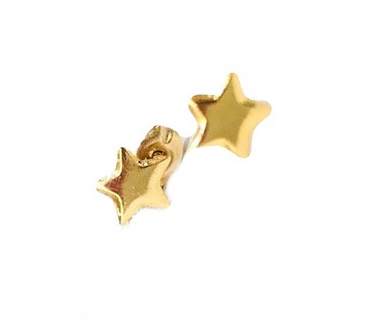 Star Stud Gold Earring