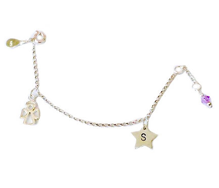 Angel Personalised Charms Bracelet