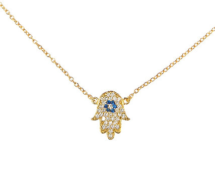 Hand of Hamsa Gold Necklace