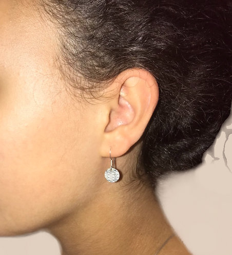 Diamondcut Disc Earrings