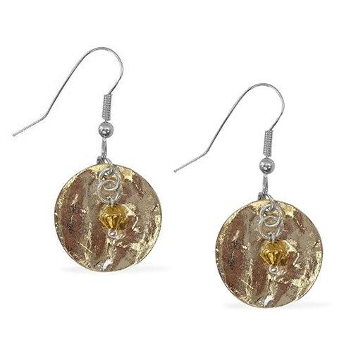 Moon Hammered Earrings
