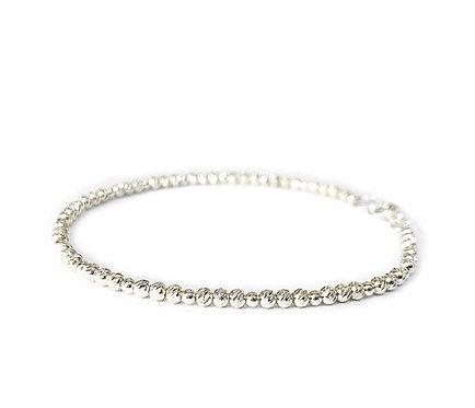 Skinny Sparkle Silver Diamond-cut Bracelet