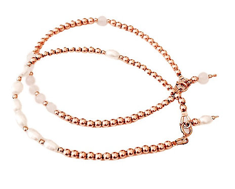 Rose Gold Pearls Friendship Bracelet