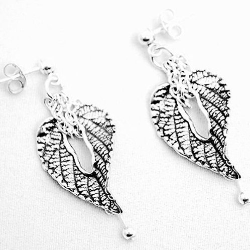 Leaf Forever Silver Earrings