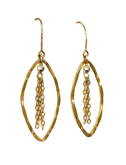 Multi-Chains Drop Gold Earrings