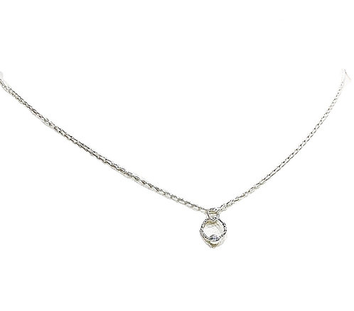 Dainty Circle Silver Necklace