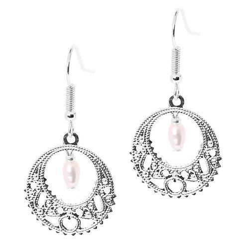 Lace Freshwater Pearls Earrings