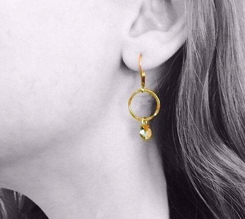 Infinity Crystal Gold Earrings