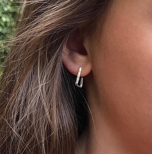 Small Square Hoop Earrings