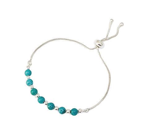 Adjustable Turquoise Silver Bracelet