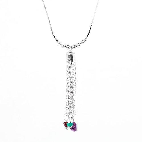 Gems Tassel Necklace