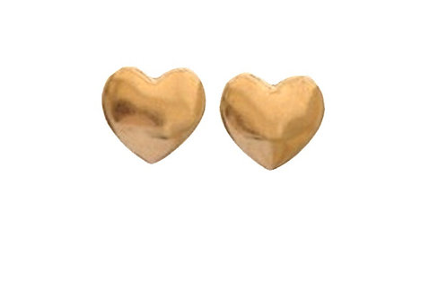 Heart Stud Gold Earring