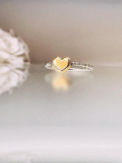 Slim Gold Heart Ring