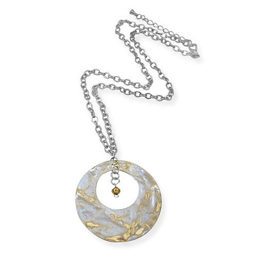 Moon Hammered Necklace