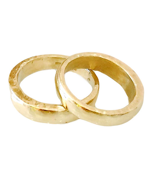 Solid Gold Chunky Stacking Ring