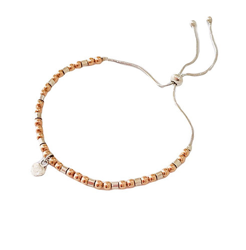 Adjustable Friendship Bracelet In Rose Gold
