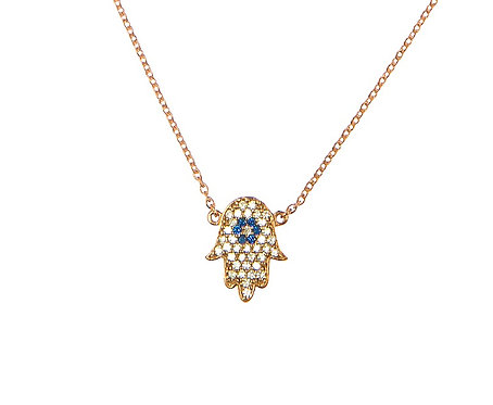 Hand of Hamsa Rose Gold Necklace