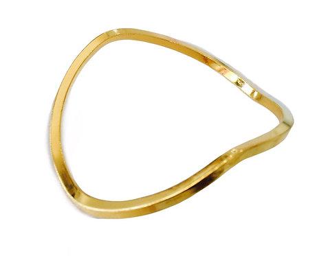 Gold Wavy Bangle