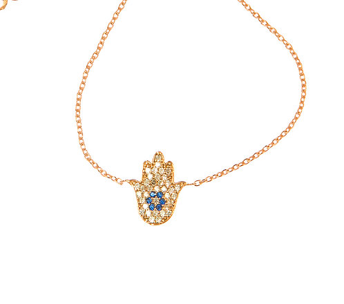 Hand of Hamsa Bracelet In Rose Gold