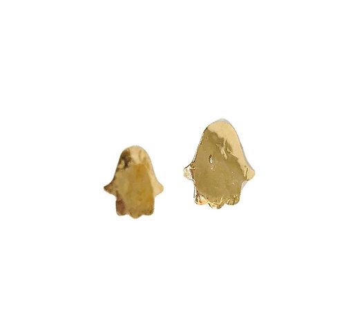 Hamsa Stud Gold Earring