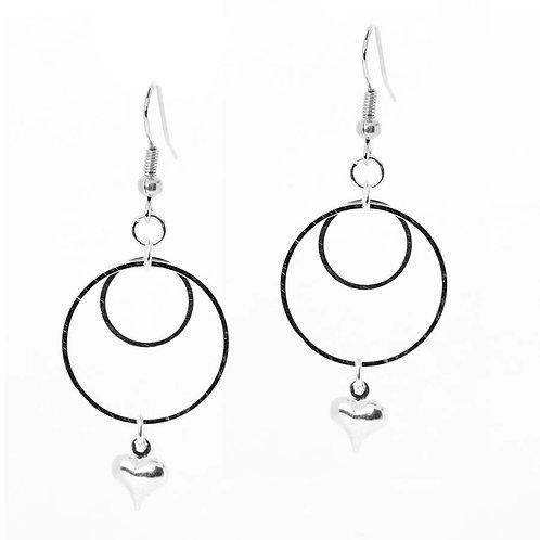 Heart Infinity Earrings