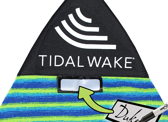 "Tidal Wake TAG-IT Surf & Wake Board Sock Bag 52-53"" w/Name Tag, Pointed JR Nose"
