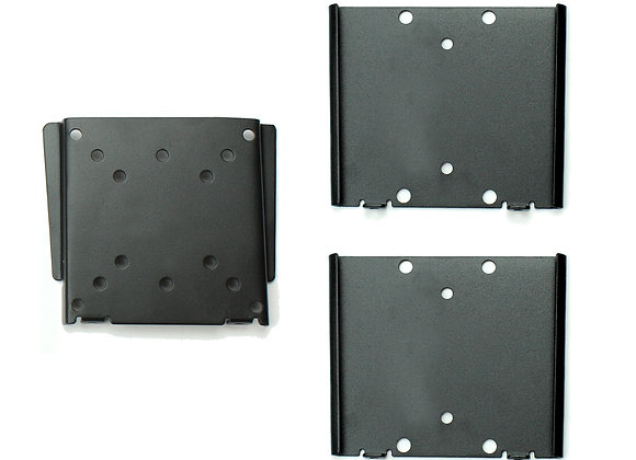 Master Mounts 101-2 Fixed Flat TV Wall Mount with 2 Extra Mounting Plates