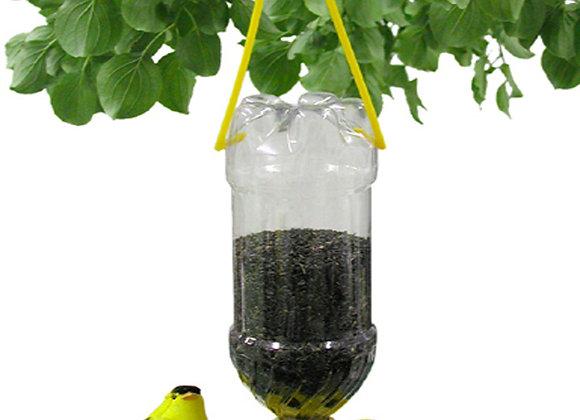 25 Soda Bottle Thistle Bird Feeders (Yellow)