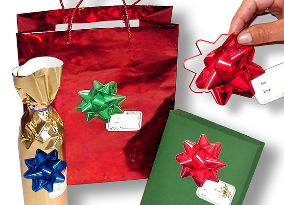 Gadjit Holiday Bow Stickers, 30 Pack