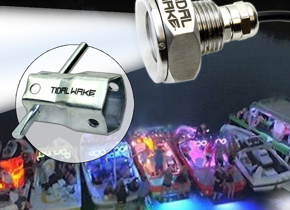Tidal Wake IP68 Underwater Boat Drain Plug Light & Socket Wrench