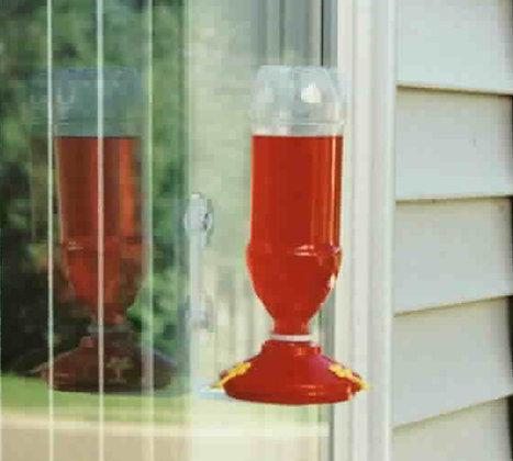 25 Soda Bottle Hummingbird Window Feeder (Red)