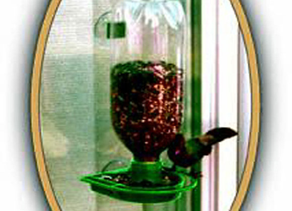 25 Soda Bottle Window Bird Feeders (Green)