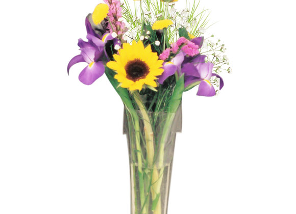 Gadjit Window Vase Flower Pot Style (Holds a Bouquet)