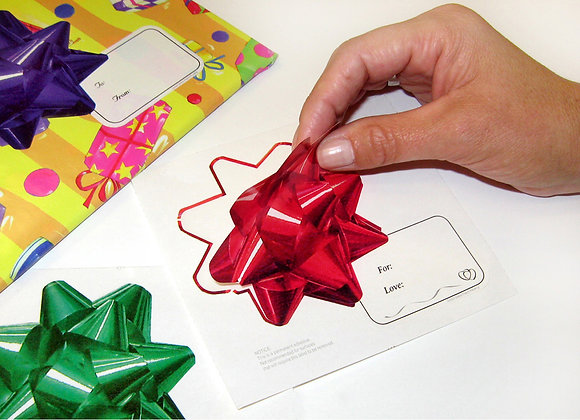 Gadjit Holiday Bow Stickers, 50 Pack
