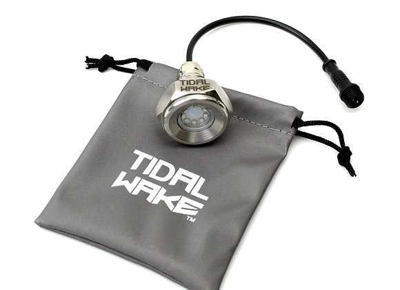 "Tidal Wake IP68 Underwater 1/2"" Standard Boat Drain Plug LED Light"