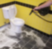 Spraying Disinfectant