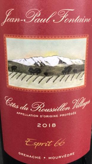 """Jean-Paul Fontaine - Côtes du Roussillon Villages """"Esprit 66"""" 2018"""