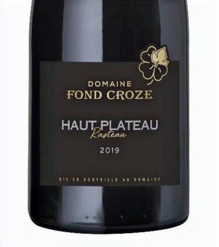 Domaine Fond Croze - Le Haut Plateau Rasteau 2017