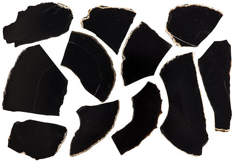 Black Onyx Slabs 2 to 3 MM Thickness