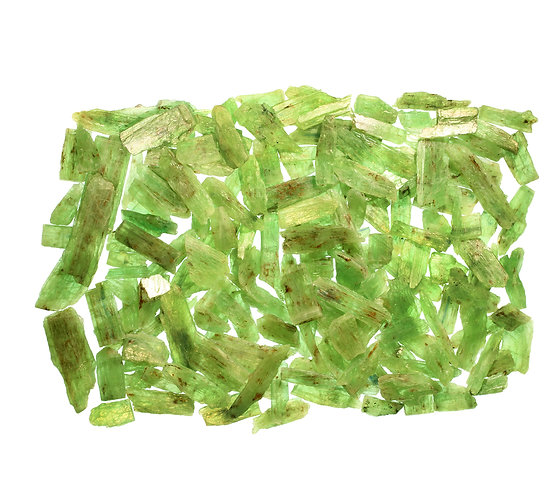 FLAT GREEN KYANITE 500 GMS.