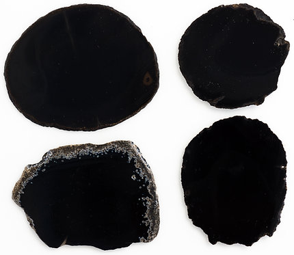 BLACK ONYX SLABS 3-4 MM THICKNESS - 1 LB. PARCEL