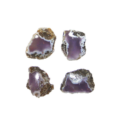 PURPLE CHALCEDONY- 100 GMS.- 4 PCS.