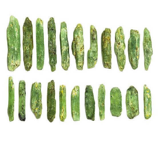 MATCHSTICK GREEN KYANITE 100 GRAMS