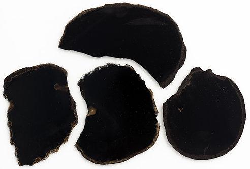 BLACK ONYX SLABS 4-5 MM THICKNESS - 1 LB. PARCEL