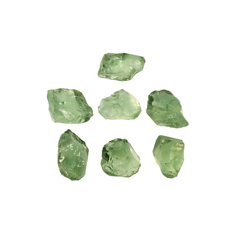 GREEN AMETHYST ROUGH PARCEL- 500 CTS. - 7 PCS.
